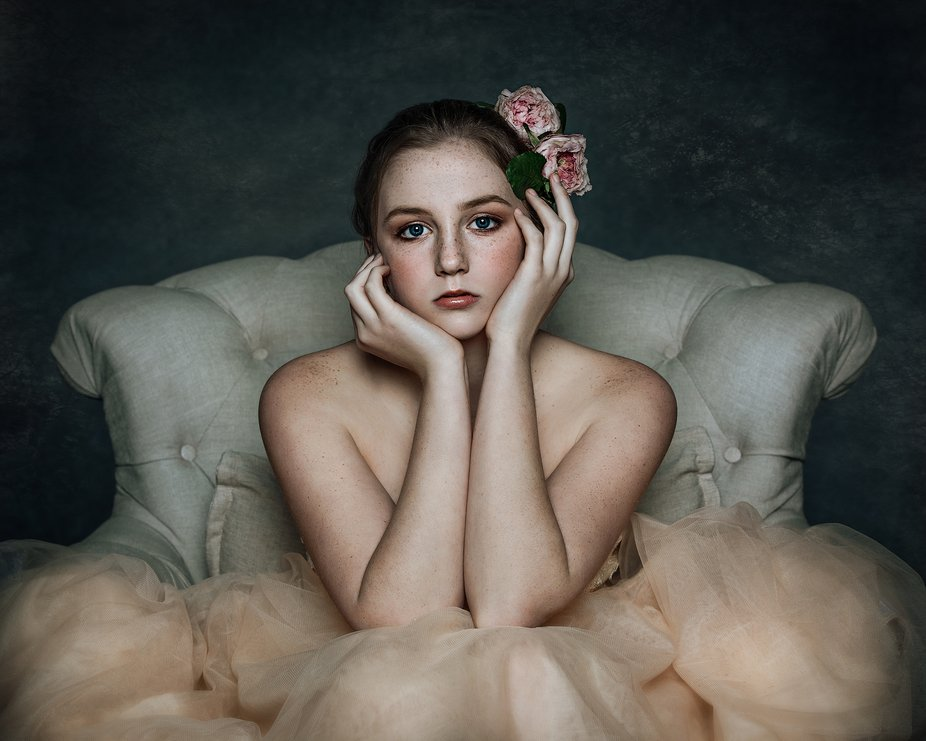 My first attempt at the fine art look. Taken in my new studio with B1X.