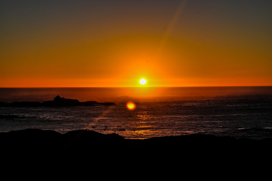 Sunset at Mossel bay south africa