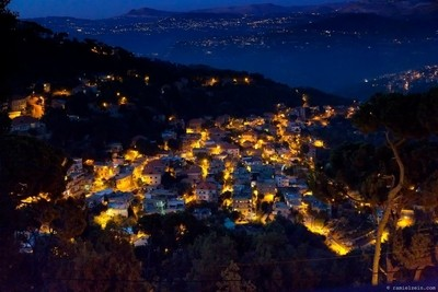 Choeir after dusk, view from DhourBeautiful Lebanon