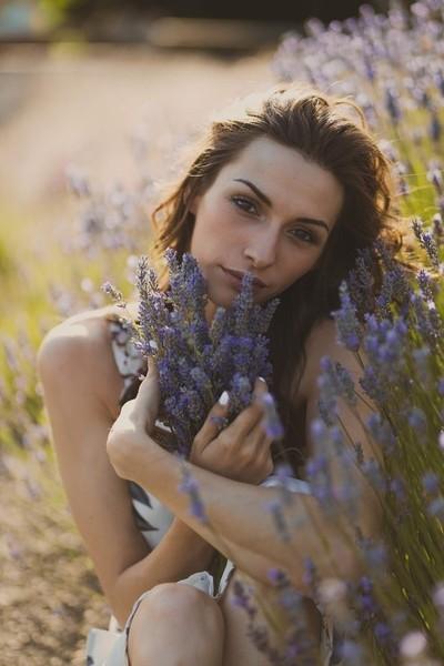 Lavender farm with Kiesha