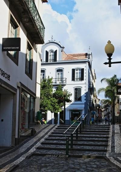 A street of Funchal city. Madeira island