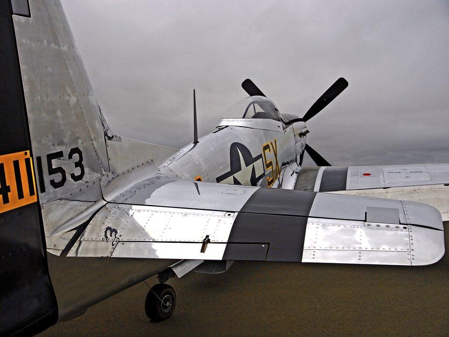 I gathered this static image of the P-51D Mustang Kimberly Kaye at the Santa Rosa Air Show in Aug...