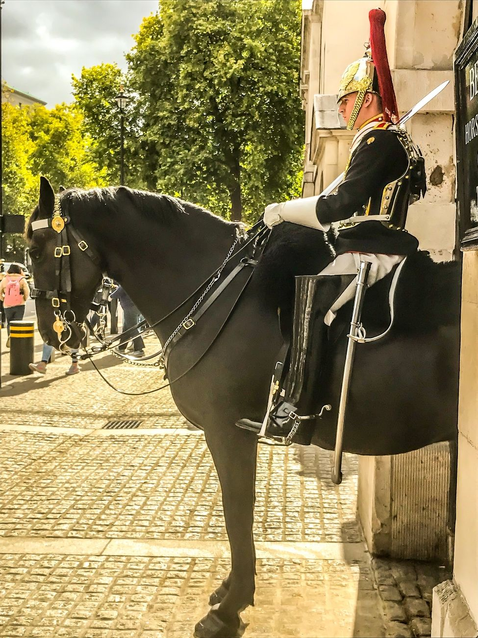 Guard at Westminster at his post