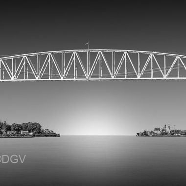 Cape Cpd Rail Road Bridge over Cape Cod Canal in the up position