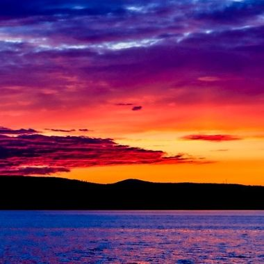 What a sunset this was. I took this two years ago today. The sky was absolutely glorious.