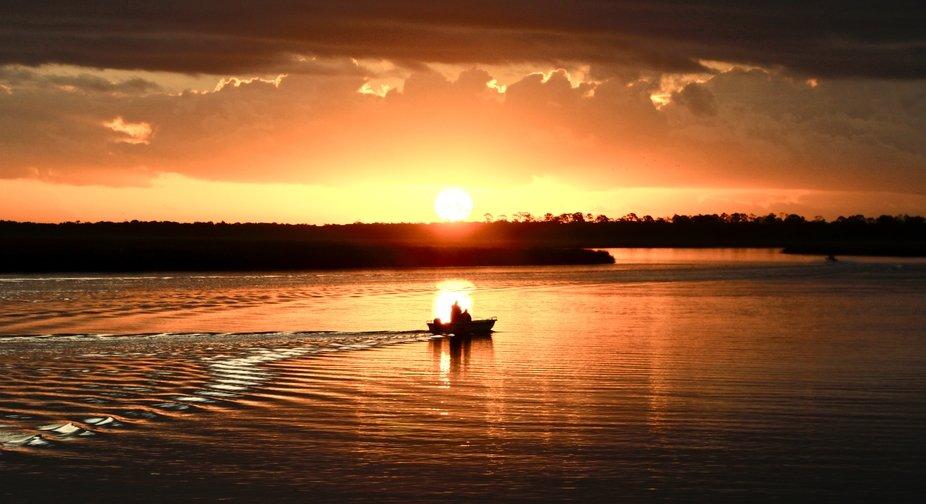 Sunrise over Jones River and the Marsh