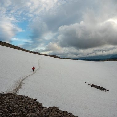 Snow crossing on Old Snowy in Goat Rocks