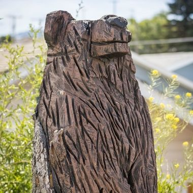On our way from Butte just over the hill to Walkerville, MT several Bear carvings.