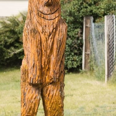 Yet another bear carving on the way to Walkerville Montana from Butte