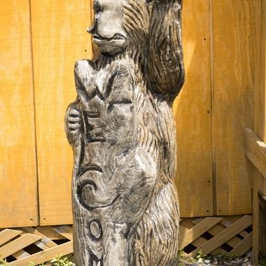 Another of the carvings outside of the entrance/gift shop