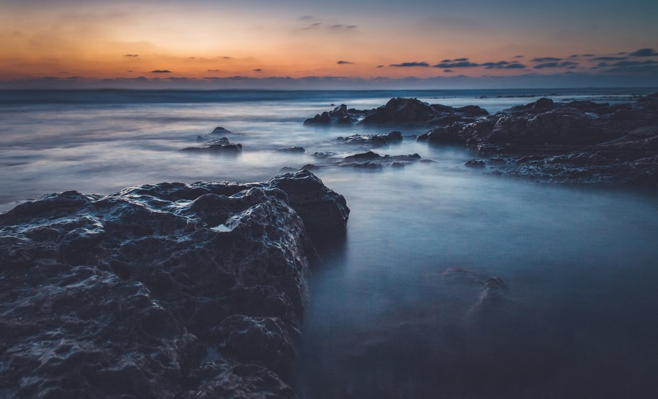 Mediterranean sea long exposure