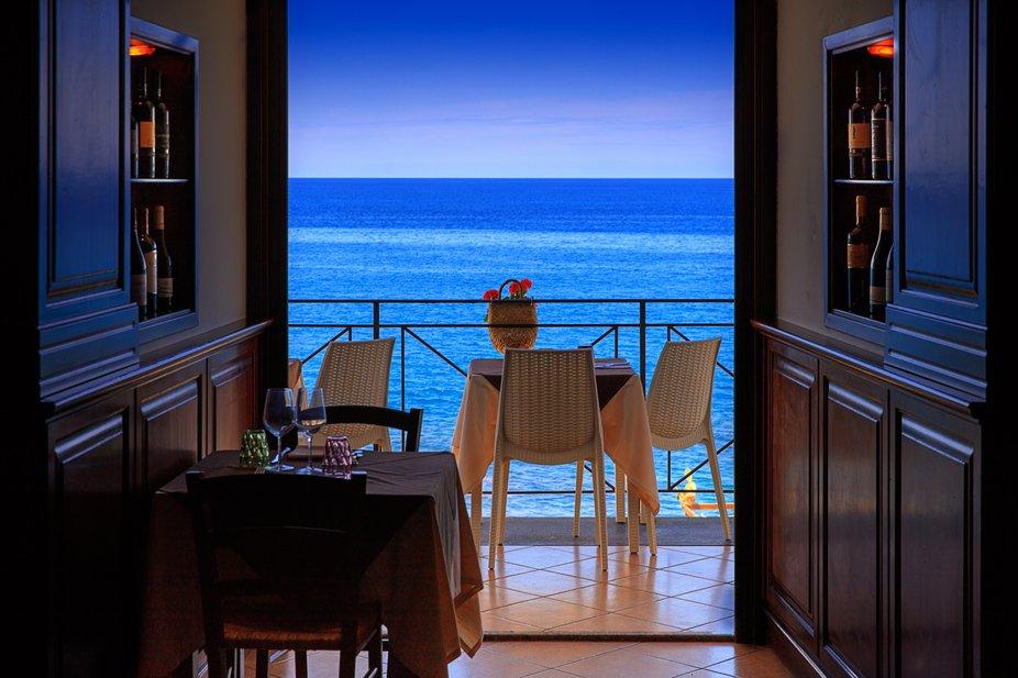 Water front restaurant, Cefalu, Sicily