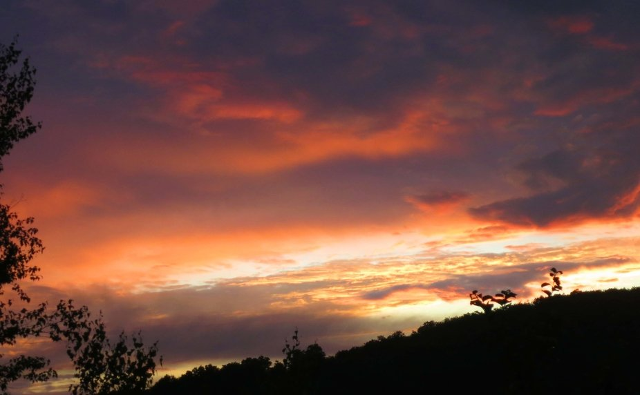 This is the first fiery sunset I've captured this summer and worth waiting for.