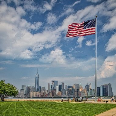 Manhattan Skyline from Liberty Island