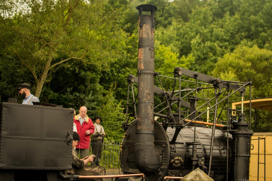 "Working replica of ""Puffing Billy"" built by William Hedley. One of the first Railway engines."