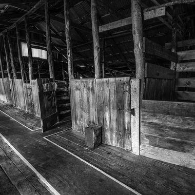 Old circa 1920 woodshed