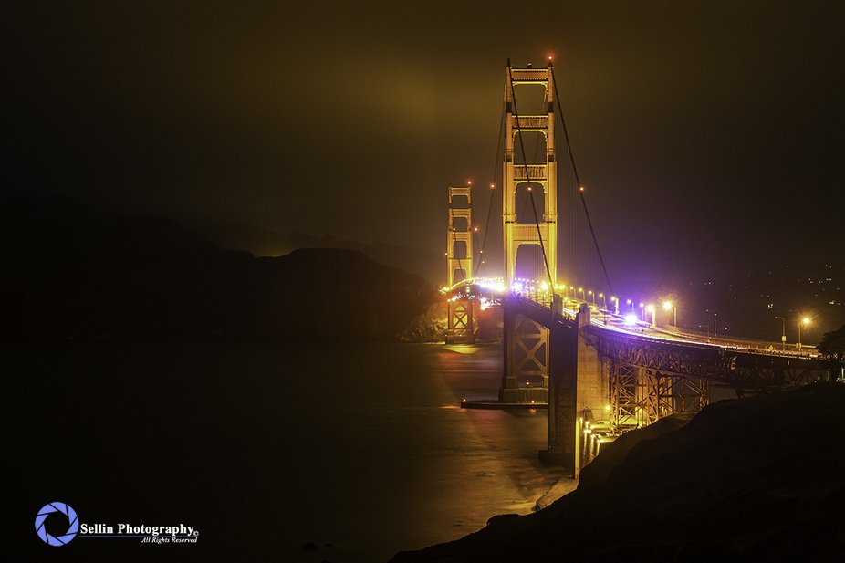 """""""Golden Gate Bridge at 3am"""" Road Trip to sort some stuff out and I end up in Sa..."""