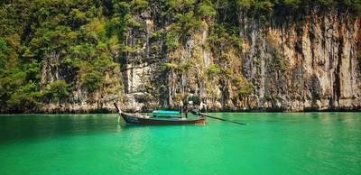 Longboat in the bay, Phuket