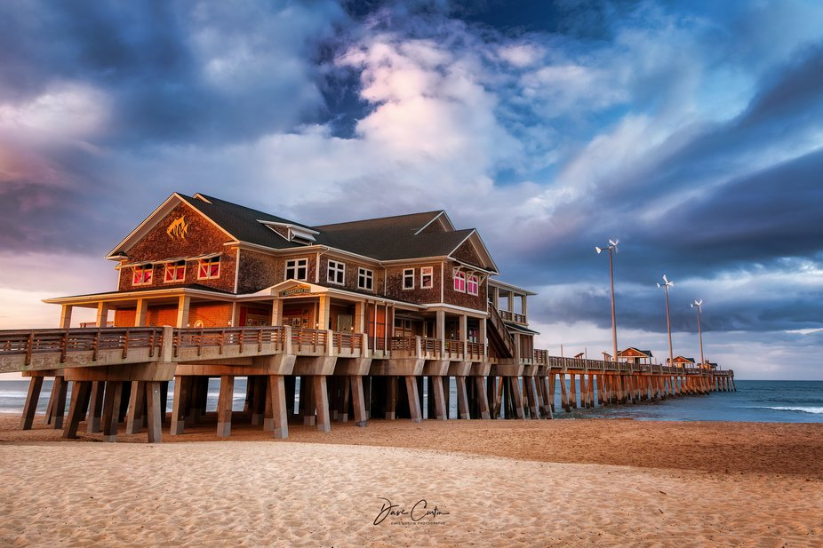 Captured in:  Nags Head, NC.    Seen here is one of the more famous and popular fishing piers fou...