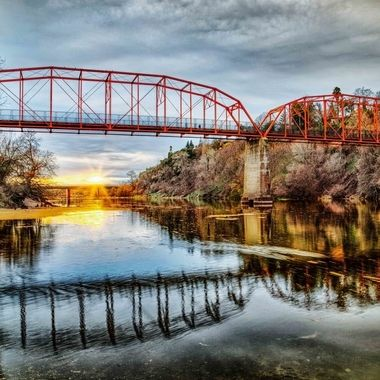 _S6A7874_80-Sunset at Old FO Bridge_161012_12x18 w mat_F