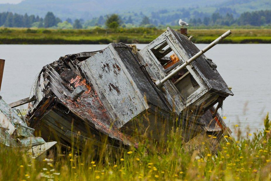 An old boat along the Wa coast