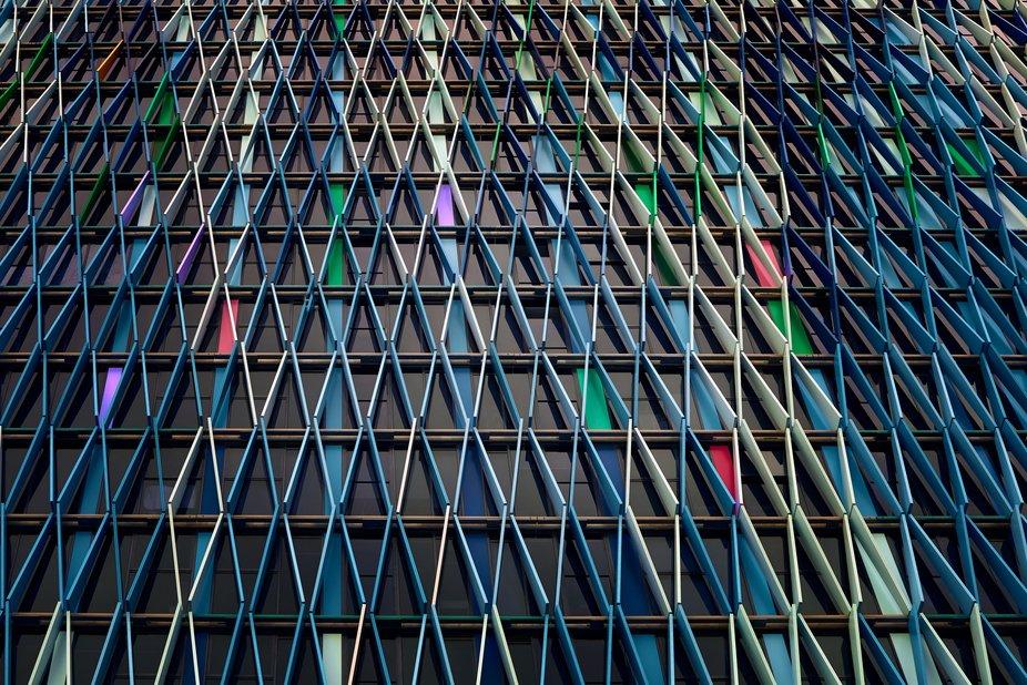 A facade of a city building