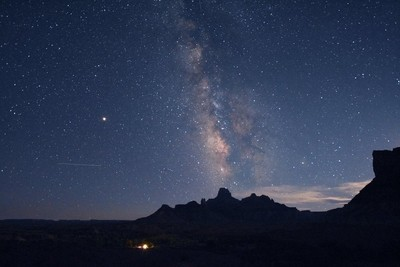 Milky Way over Butte
