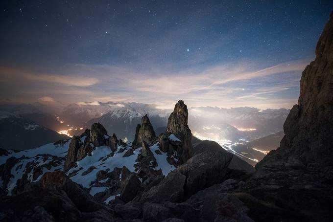 Alpine night by NiCoBoCo - The Night Sky Photo Contest
