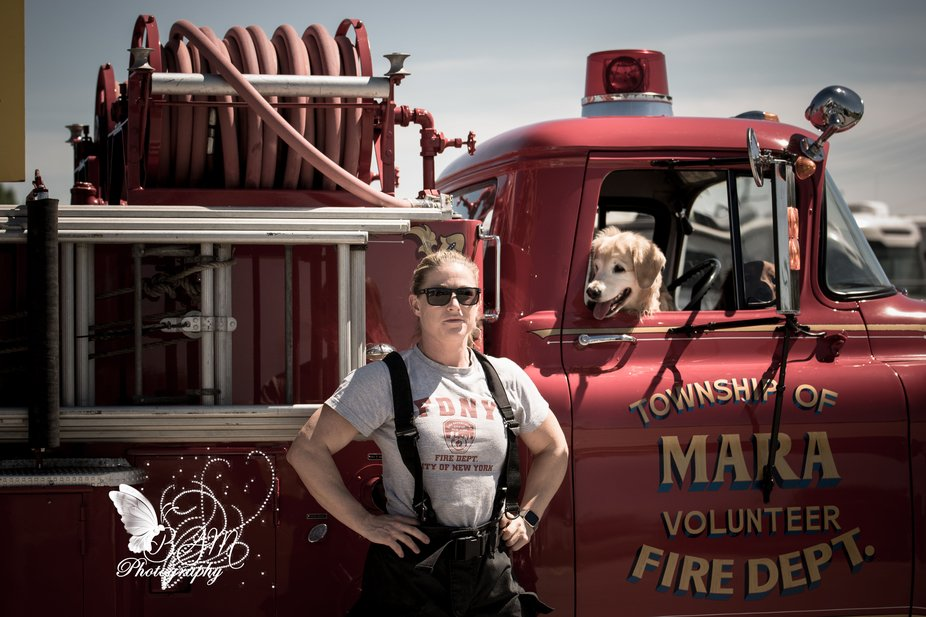 The Absolute Love of a rescue dog...I had the honor of photographing a firefighter and her rescue...