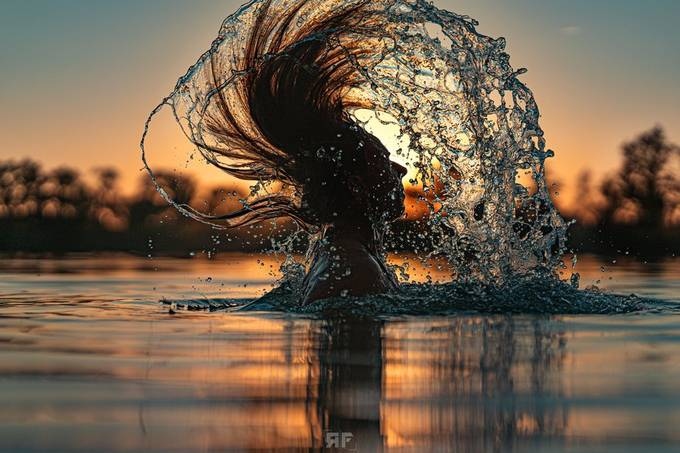 Bathing in the sunset by ron_koenig - Image Of The Month Photo Contest Vol 47