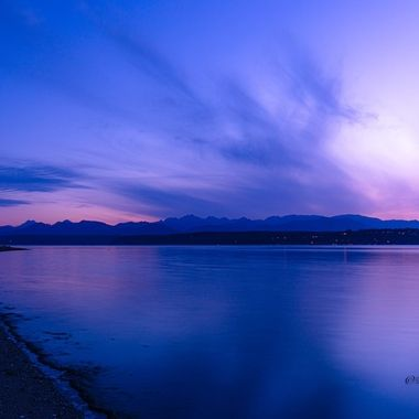 Such a peaceful way to end the day. Natures beauty is amazing.  Hood Canal, Washington, USA