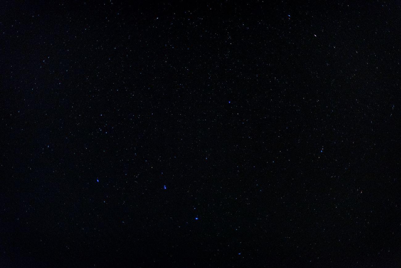 Night stars over the Mojave Desert.