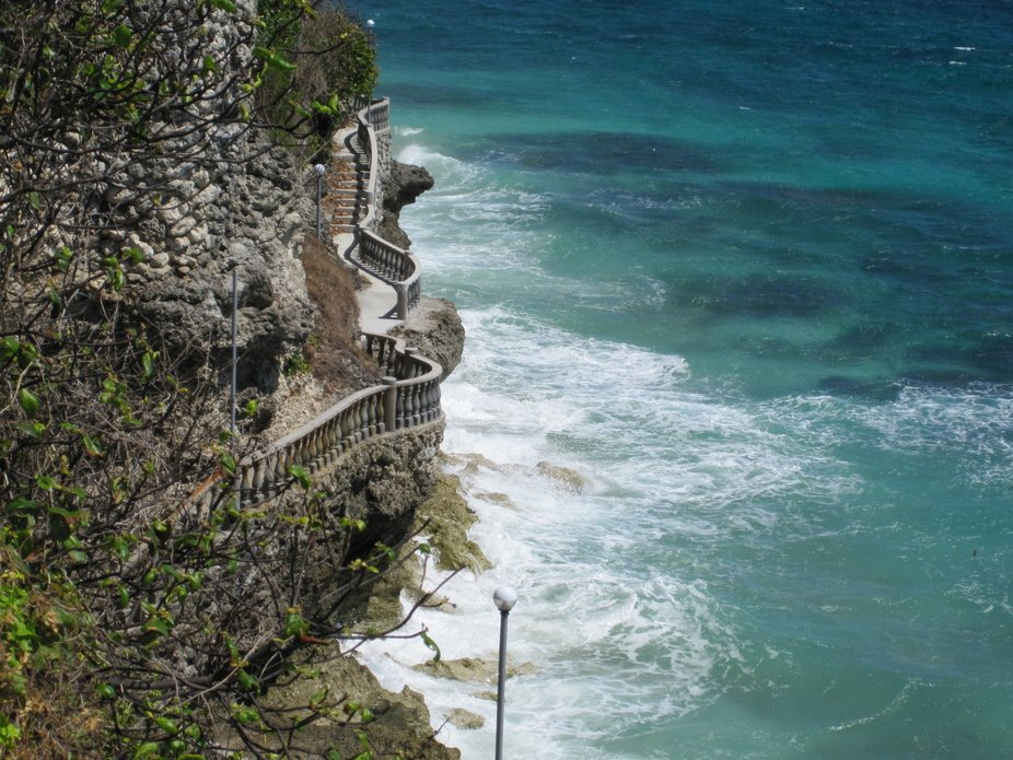 Cliffs  cemented Walkways at Antulang Resort-Siaton. Negros Oriental.Philippines.