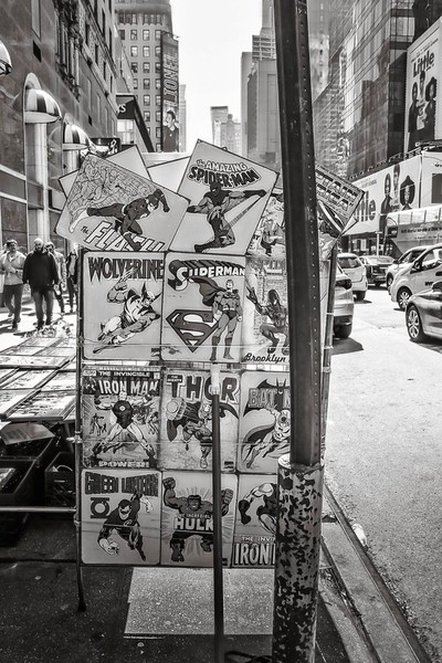 Comic book heroes.