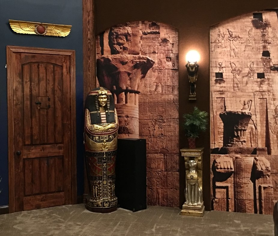 This is the right wall of Egyptian movie room