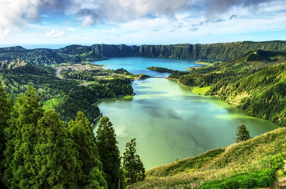 I took this in the Azores from the top of a grand hotel that was abandoned in the 80's. ...