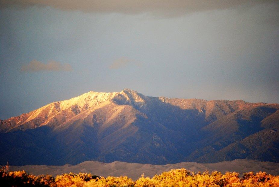Sangre de Cristo Mountains in the early morning light