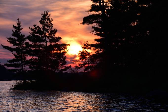 Another beautiful sunset while fishing Rainy Lake