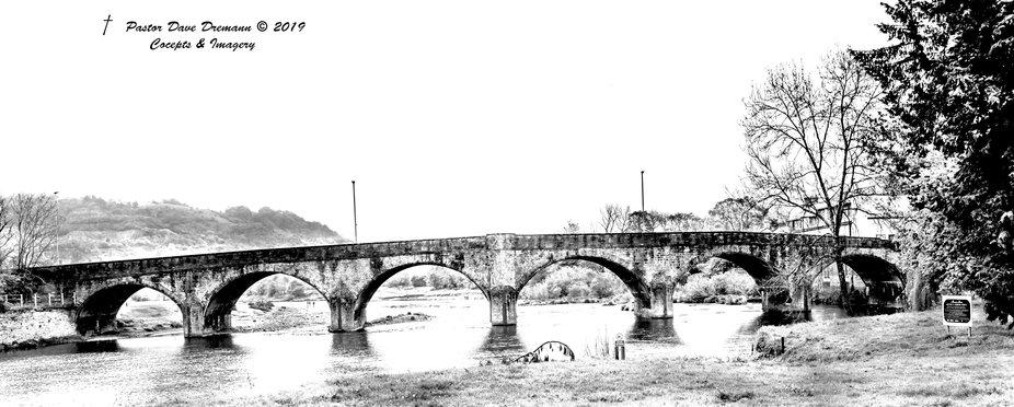 Roman Road bridge near the Battlefield of Culloden Moor sketch