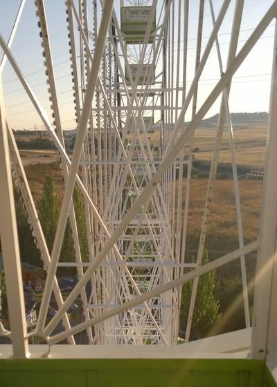 Inside the giant wheel