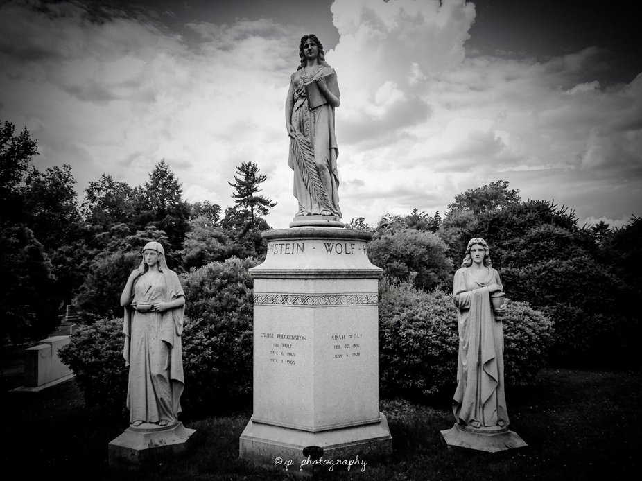 The burial site of the Fleckenstein Wolf Family buried at Cave Hill Cemetery in Louisville, Kentu...