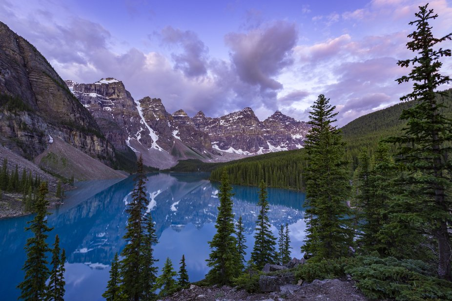 Sunrise at one of the Canadian Rockies most icon spots.
