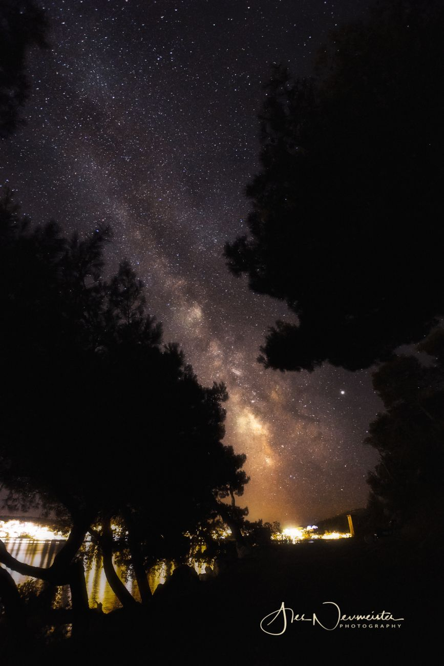 My first Milky way photo directly over city