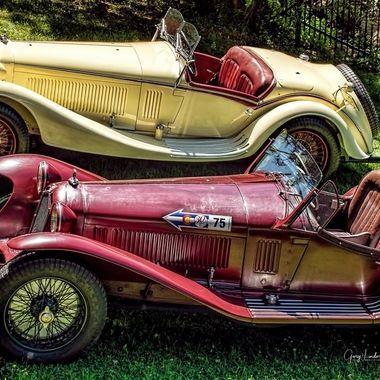 1932 Alfa Romeo 8C 2300 Corsa Spider & 1933 Alfa Romeo 8C 2300 Rorto Spider.