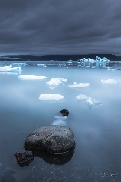 The Waiting RoomGlacial chunks waiting in Jökulsárlón before moving slowly out to sea