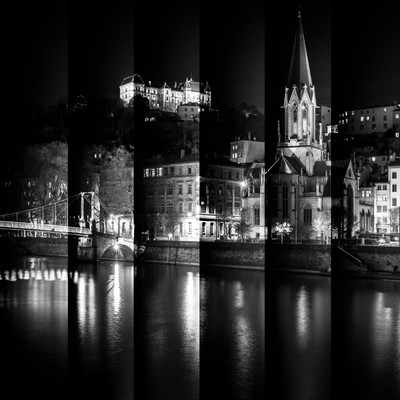 St-Georges district at Lyon in B-W