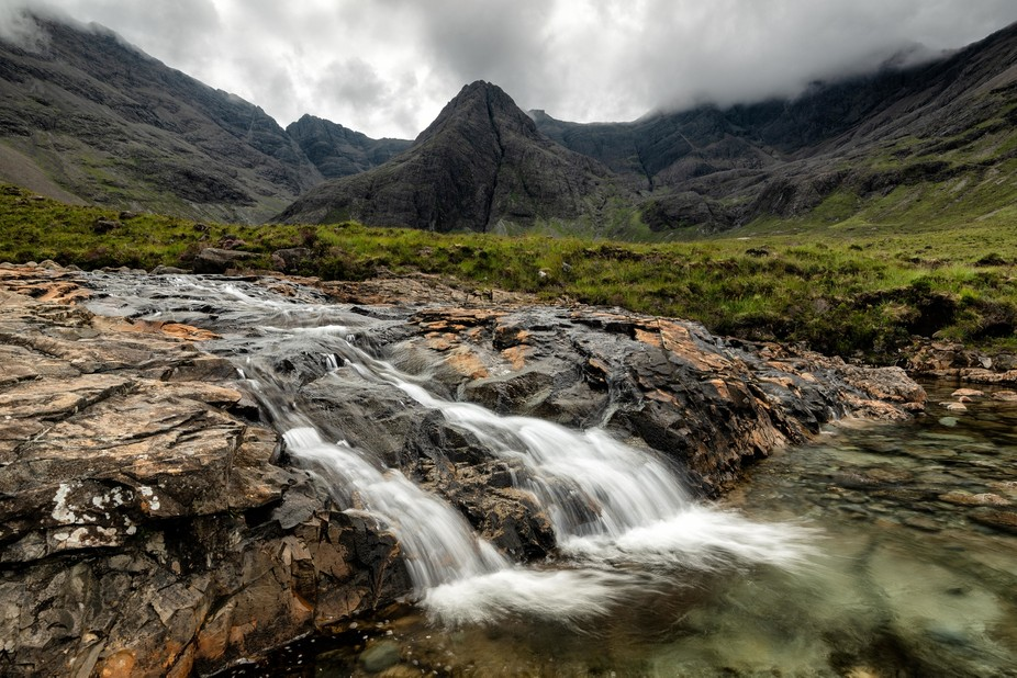 Fairy pools in the Isle of Skye, Scotland