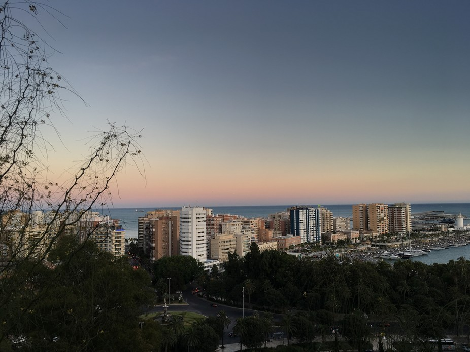 Taken from Malaga's castle.  No edits at all