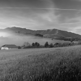 A misty early morning in Çaro village, in French Pays Basque. I tried a long exposure with ND filter to smoothen the mist and clouds.
