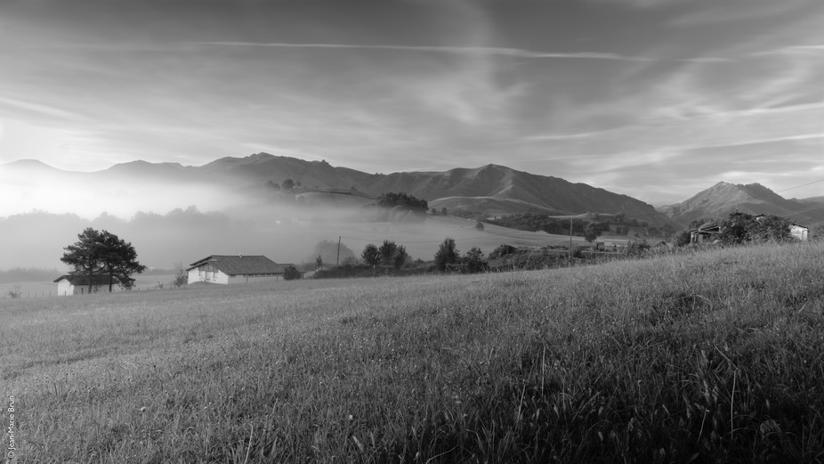 A misty early morning in Çaro village, in French Pays Basque. I tried a long exposure with ND fi...